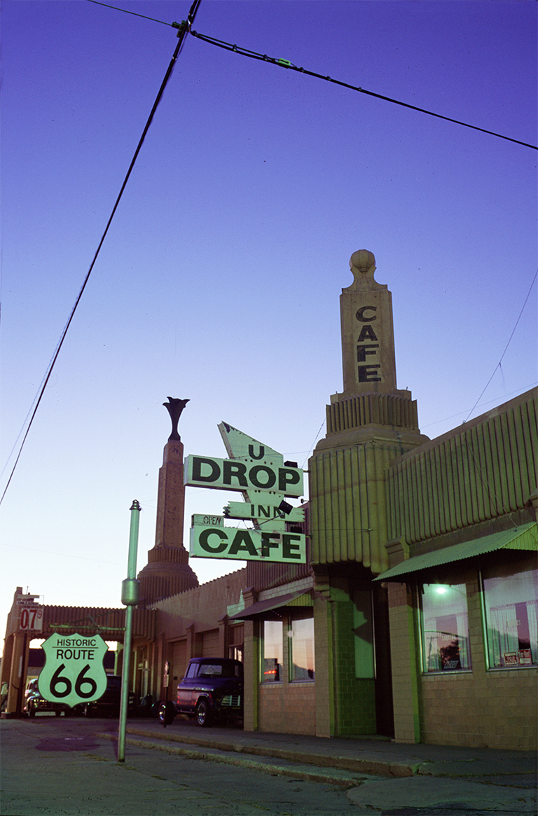 U Drop Inn Cafe, Route 66, Shamrock, Texas, United States of America