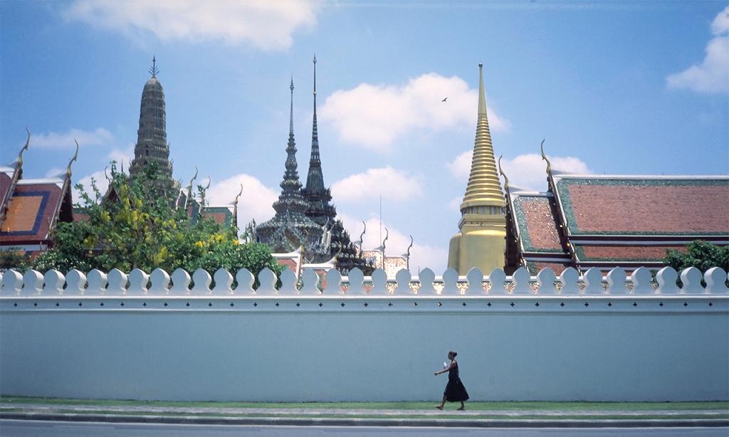 Outer Wall, Wat Pho, Grand Palace, Bangkok, Thailand