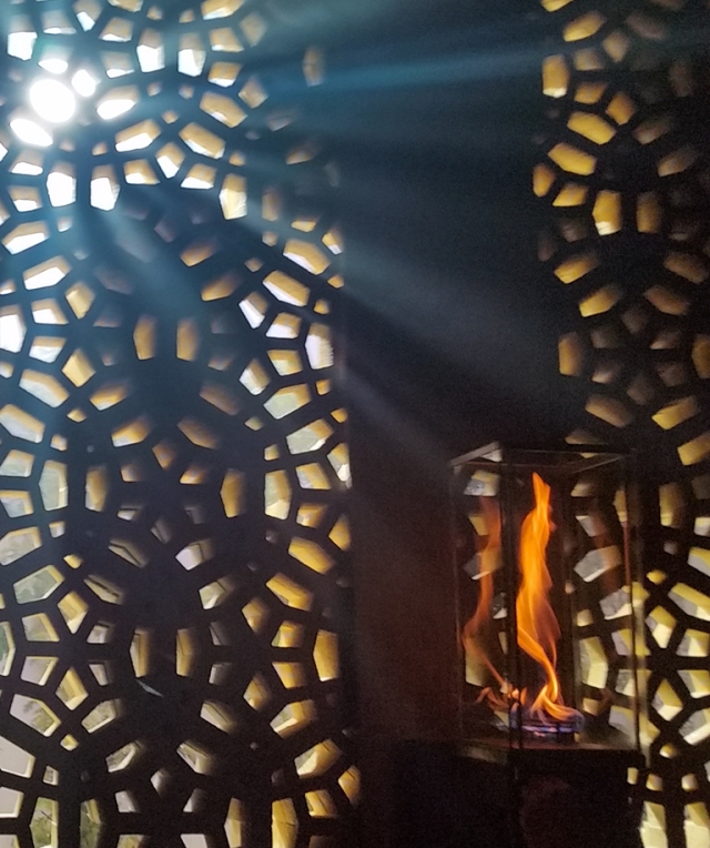 Fire & Light, Lattice Wal, Richmond, British Columbia, Canada