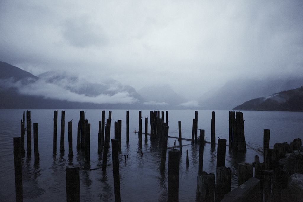 Derelict Pier, Howe Sound, Sea to Sky Highway, Britannia Beach, British Columbia, Canada
