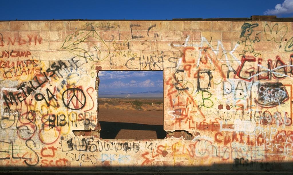 Derelict Service Station, Mojave Desert, Route 66, Mojave Desert, California, United States of America