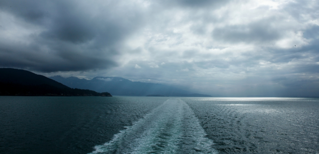 In the Wake, BC Ferries, Island Bound, Horseshoe Bay to Nanaimo, British Columbia, Canada