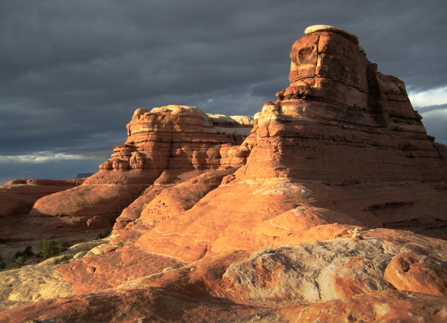 Monolithic Sphinxes, Sandstone Rock Formation, Canyonlands National Park, Utah, United States of America