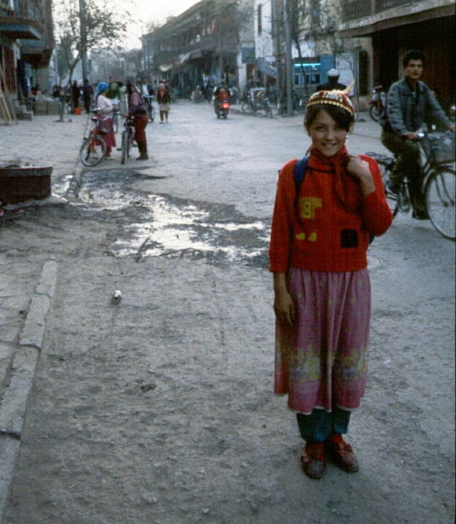 Uyghur Girl, Kashgar, Xinjiang Autonomous Region, The People's Republic of China