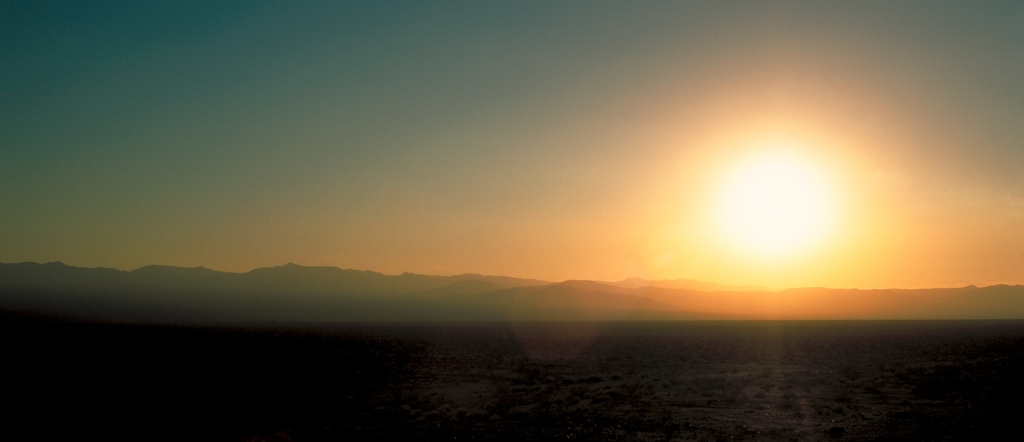 Desert Sunset, Mojave Desert, Route 66, California, United States of America