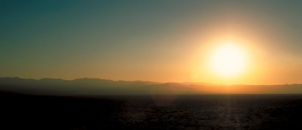 Desert Sunset, Mojave Desert, Route 66, California, United States of America