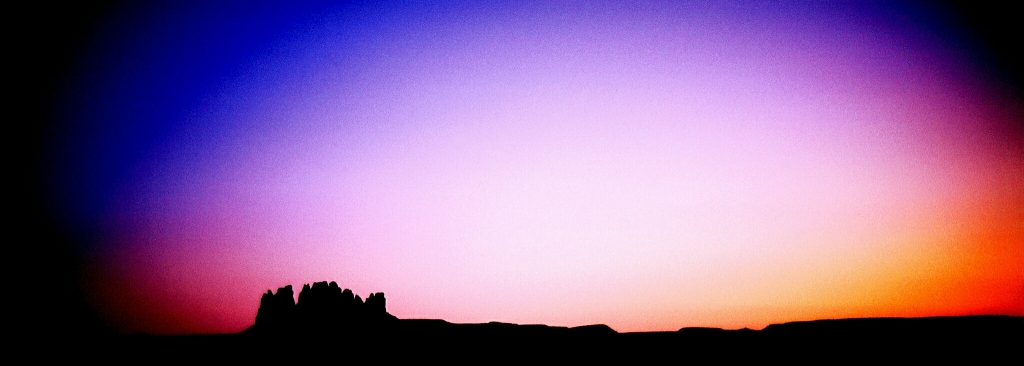 Mittens at Dusk, Near Mexican Hat, Arizona, United States of America