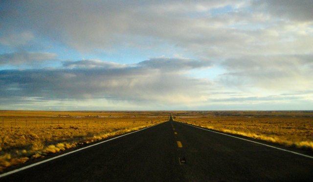 An endless road, Highway 87, Somewhere between Round Top and Winslow, Arizona, United States of America