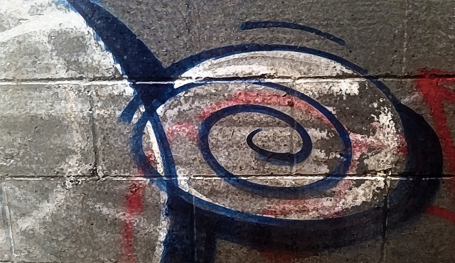 Graffiti, Urban Alley, Downtown Eastside, Vancouver, British Columbia, Canada