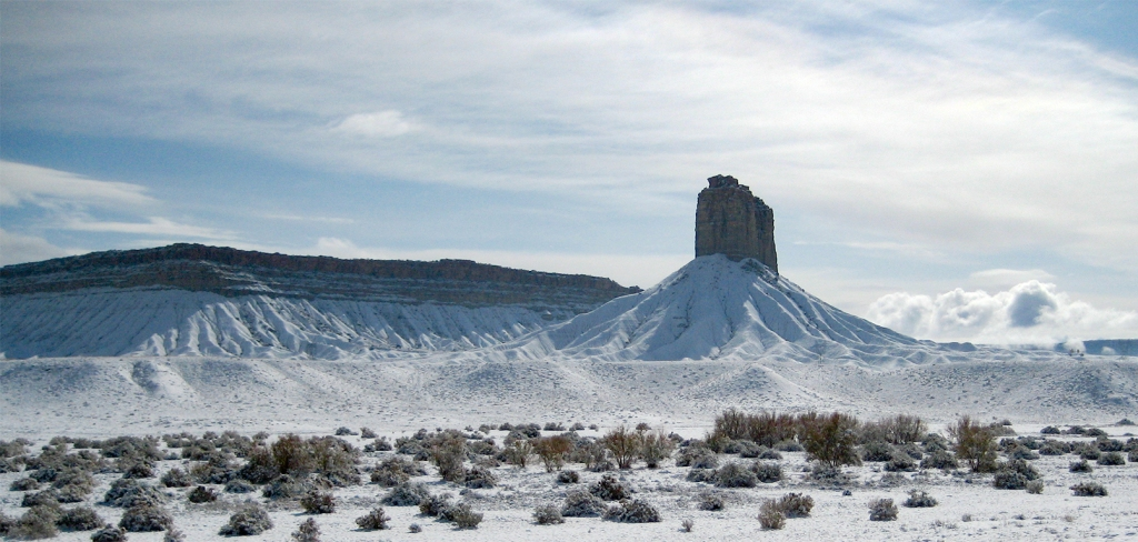 Desert Snow, Chimney Rock, Highway 491, Colorado, United States of America