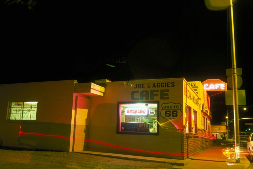 Shadows in Time, Joe & Aggie's Cafe, Route 66, Holbrook, Arizona, United States of America
