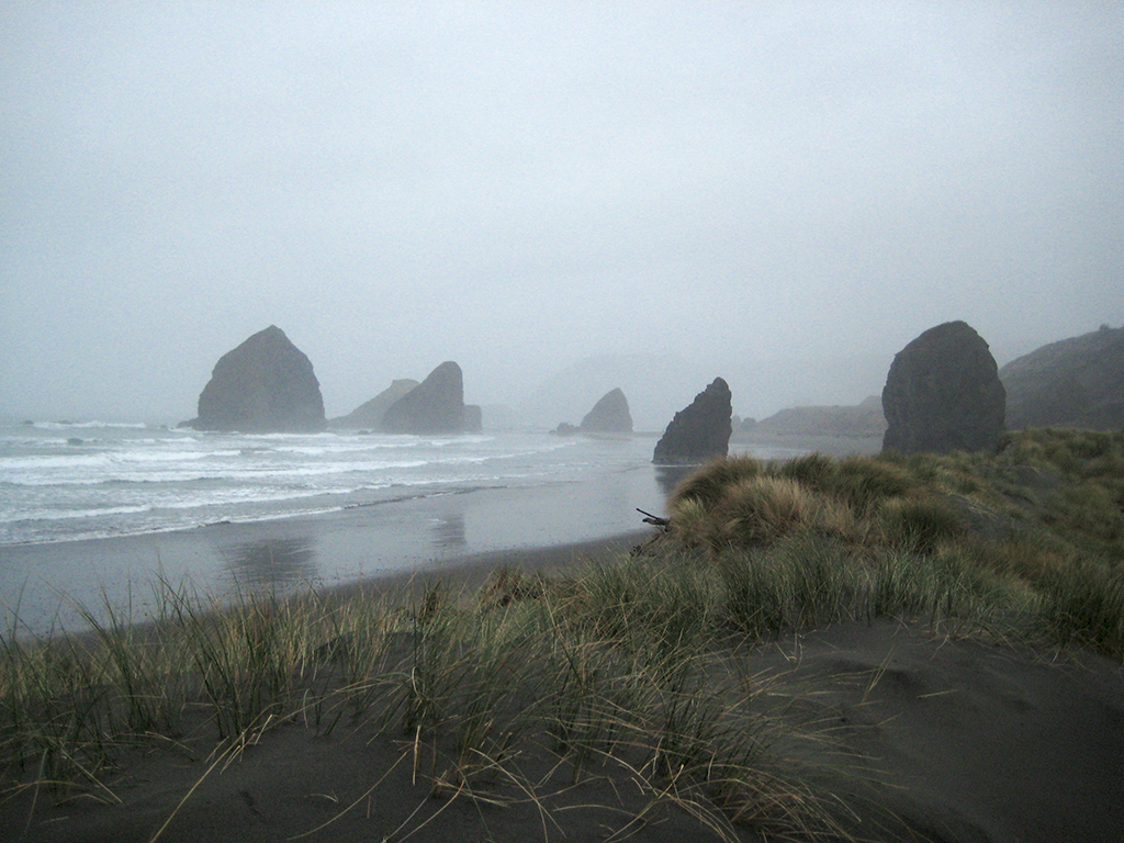 Misty Shoreline, Cannon Beach, Pacific Coast Highway, Oregon, United States of America