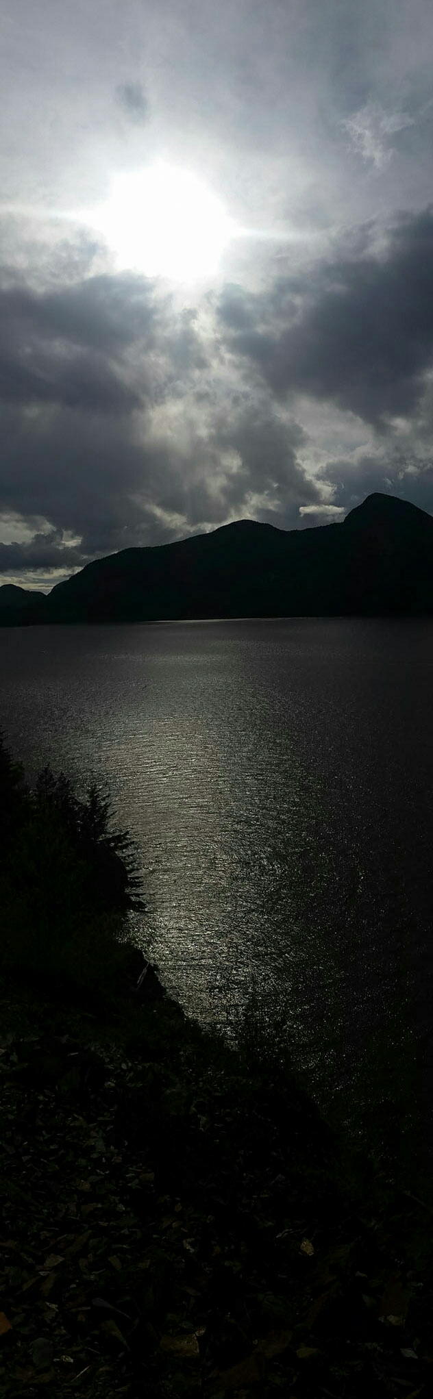 Sun and Sea, Howe Sound, Sea to Sky Highway, British Columbia, Canada