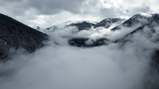 Fitzsimmons Valley, Peak z Peak Gondola, Whistler, British Columbia, Canada