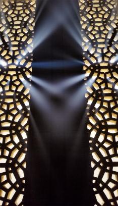 Light Converging Through the Lattice, Fraserwood Studio, Richmond, British Columbia, Canada