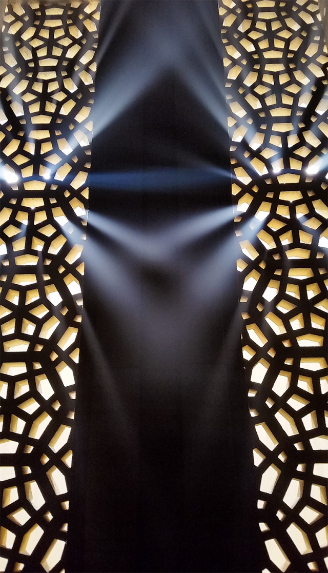 Light Converging Through the Lattice, Fraserwood Studio, Richmond, British Columbia, Canada