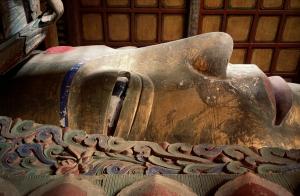 The Nirvan of Shakyamuni Buddha, Giant Buddha Temple, Zhangye, Gansu Province, China