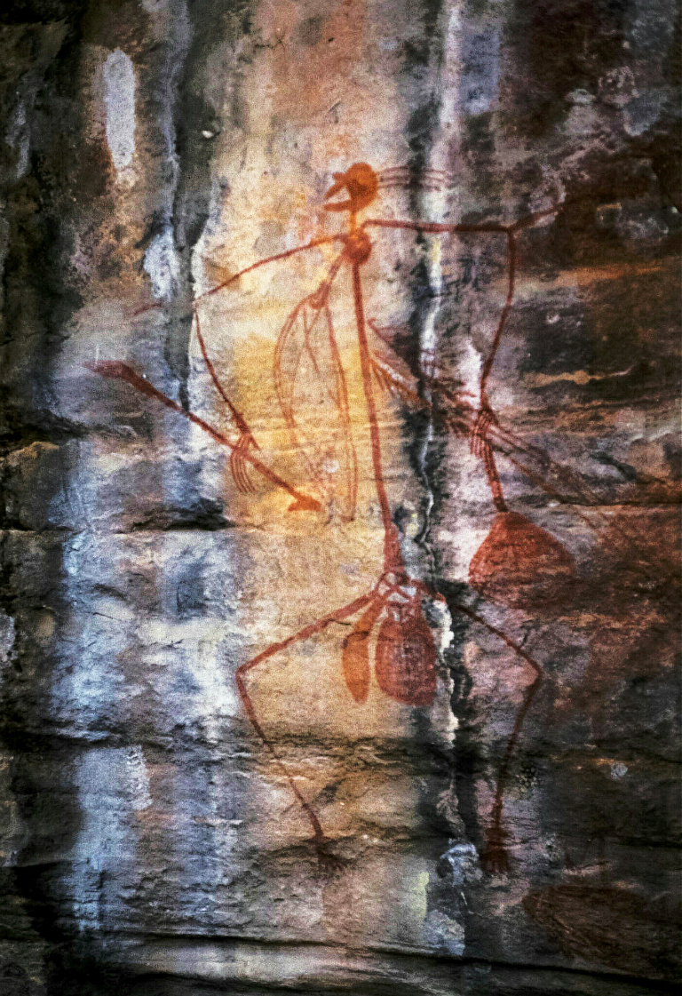 Aboriginal Rock Painting, Kakadu National Park, Northern Territory, Australia