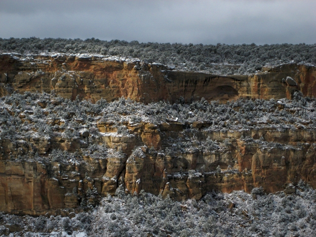 Snowfall, Mesa Verde National Park, Colorado, United States of America
