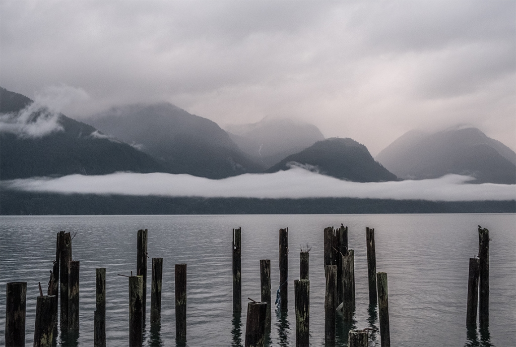 Charcoal and Smudge, Howe Sound, Sea to Sky Highway, Britannia Beach, British Columbia, Canada