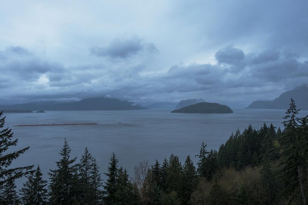 Howe Sound and Tug Boat, Horseshoe Bay, West Vancouver, British Columbia, Canada