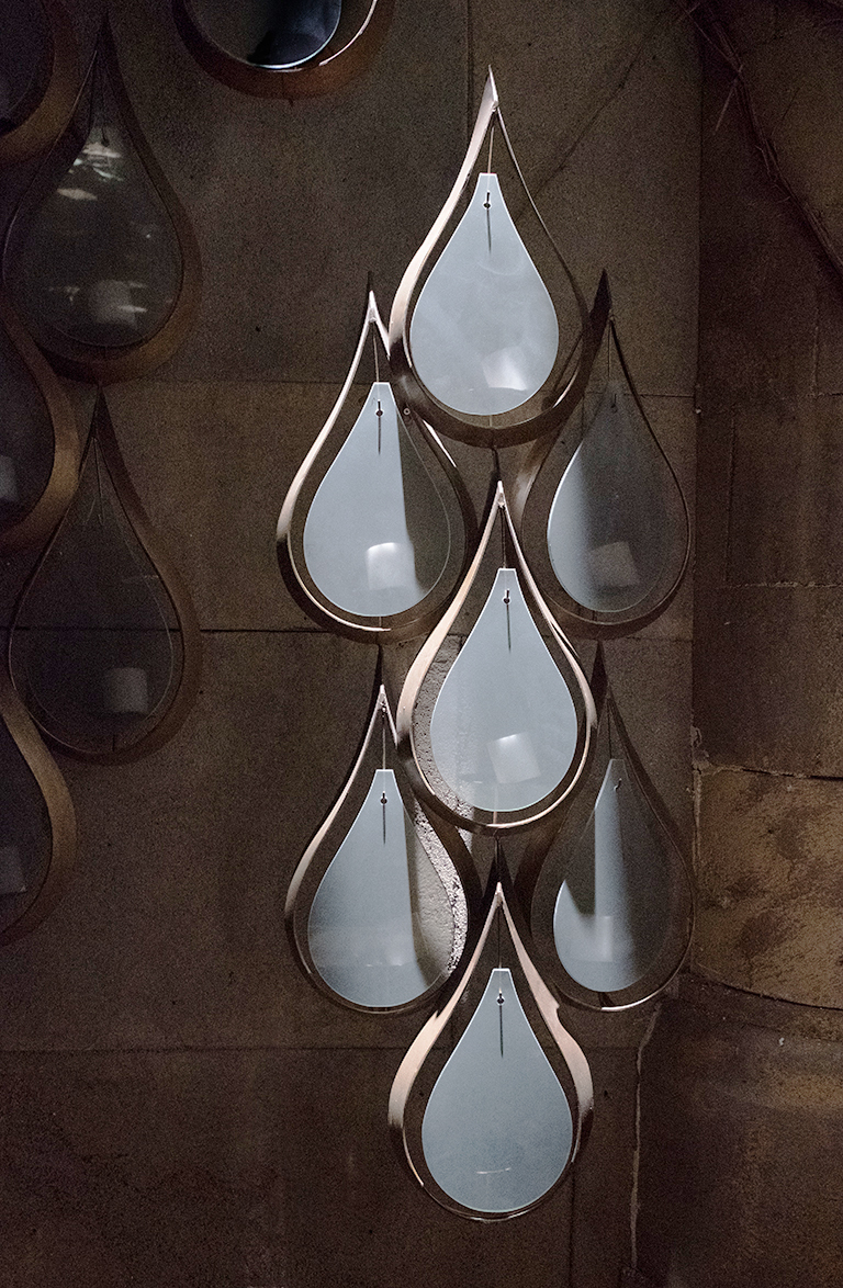 Teardrop Candle Sconce, Richmond, British Columbia, Canada