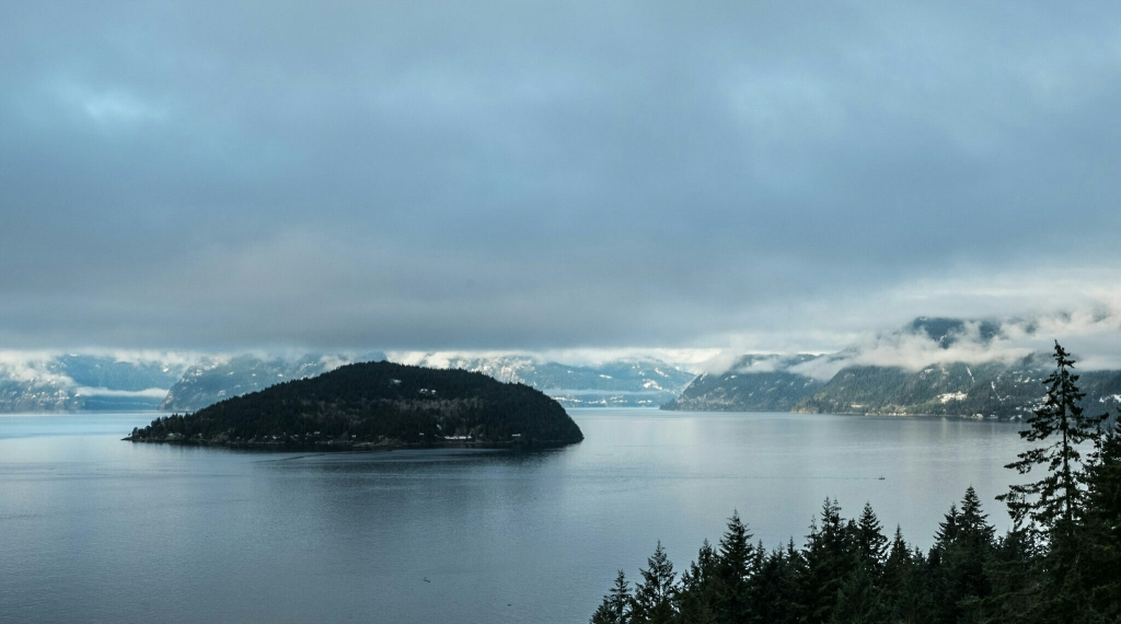 A Sheen Below, Howe Sound, Sea to Sky Highway, From Horseshoe Bay, British Columbia, Canada