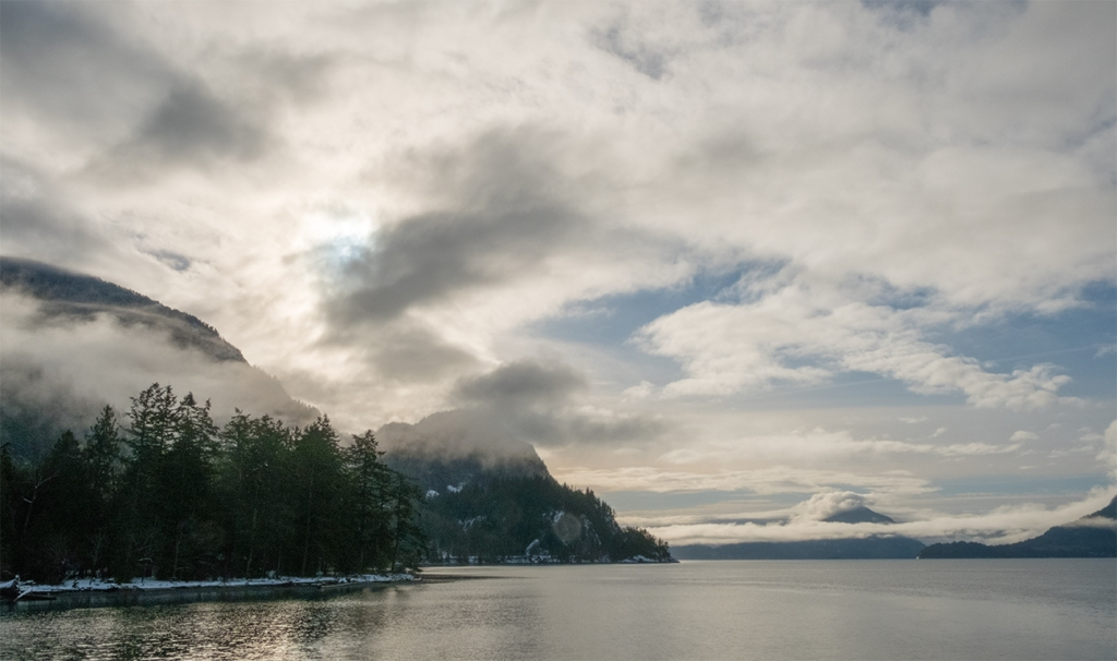Howe Sound, Sea to Sky Highway, Porteau Cove Provincial Park, British Columbia, Canada