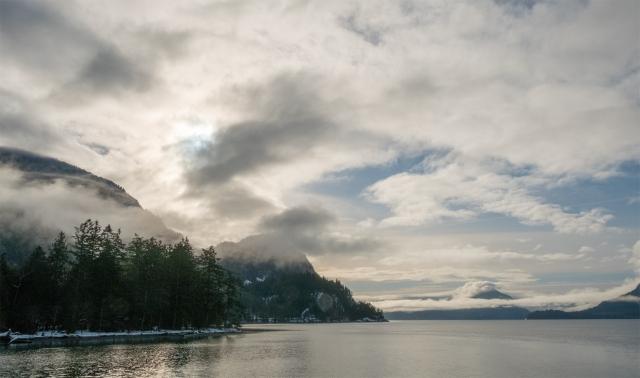 Howe Sound, Sea to Sky Highway, Porteau Cove Provincial Park, British Columbia, Canada