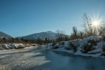 Starburst Sun, The River of Golden Dreams, Whistler, British Columbia, Canada