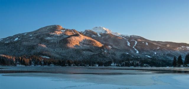 Encroaching Ice, Whistler Mountain, Alta Lake, Whistler, British Columbia, Canada