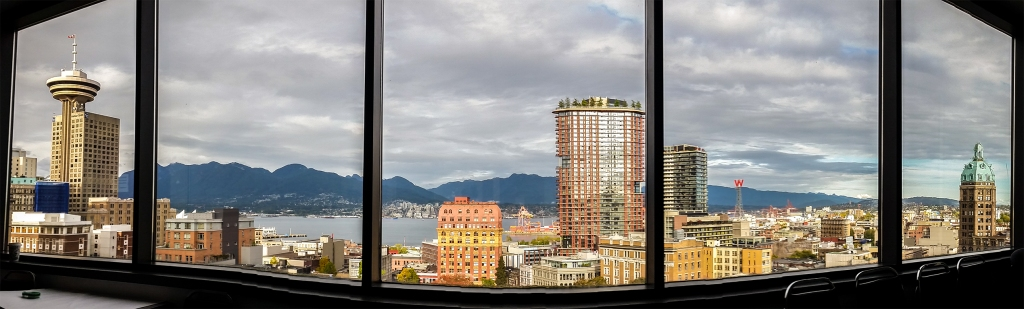 Vancouver Harbour and Skyline, Vancouver Community College, Vancouver, British Columbia, Canada