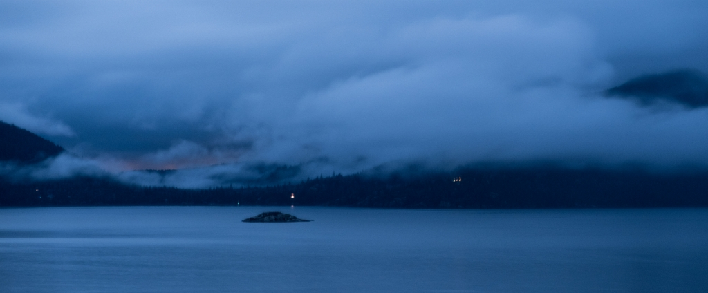 Islet in the Sound, Howe Sound, Sea to Sky Highway, British Columbia, Canada