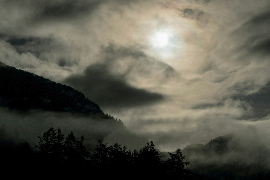 Sky Becomes the Land, Porteau Cove, Howe Sound, Sea to Sky Highway, British Columbia, Canada