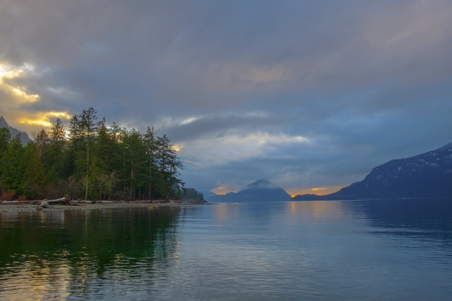 The Subtler Shades of Amber, Porteau Cove Provincial Park, Howe Sound, Sea to Sky Highway, British Columbia, Canada