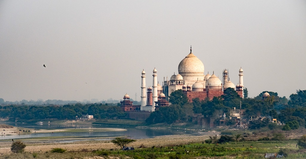 Taj Mahal, from the Red Fort, Agra, Uttar Pradesh, India