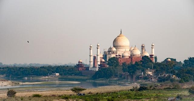 Taj Mahal, from the Red Fort, Agra, Uttar Pradesh, India