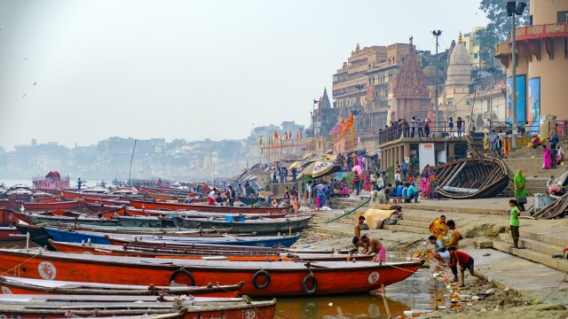 Cultural Cacophony, The Ganges River (Ganga), Varanasi, Uttar Pradesh, India