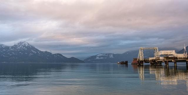Emergency Ferry Terminal, Porteau Cove Provincial Park, Sea to Sky Highway, British Columbia, Canada