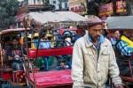Bicycle Rickshaw Driver, Chandni Chowk (Bazaar), Old Delhi, India