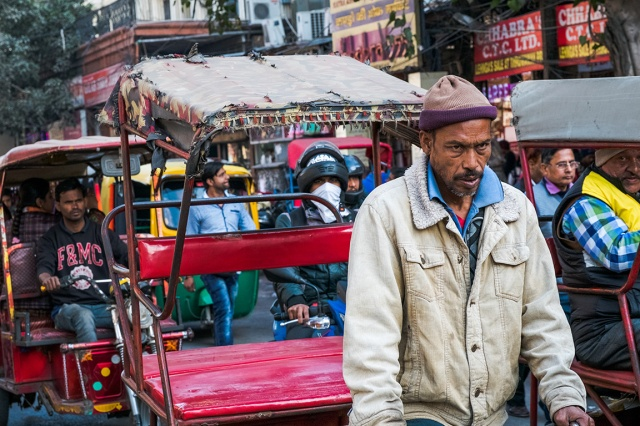 Bicycle Rickshaw Driver, Chandni Chowk (Bazaar), Old Delhi, India