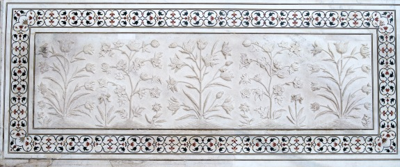 Bas Relief and Inlay, Taj Mahal, Uttar Pradesh, India