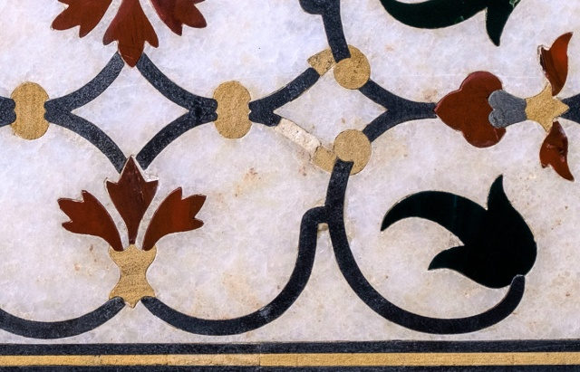 Stone Inlay, Taj Mahal, Agra, Uttar Pradesh, India