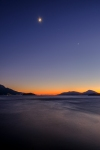Crescent Moon and Evening Star, Howe Sound, Sea to Sky Highway, British Columbia, Canada
