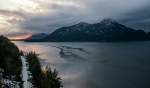 Sunset, Howe Sound, Sea to Sky Highway, British Columbia, Canada
