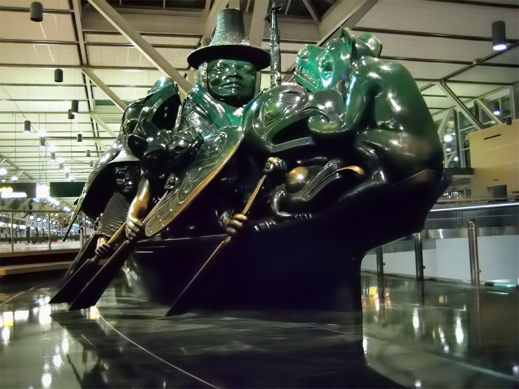 The Spirit of Haida Gwaii, by Bill Reid, International Terminal, Vancouver International Airport, British Columbia, Canada