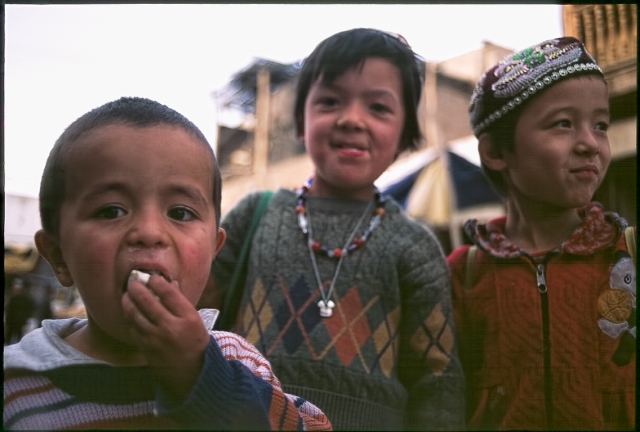 Uyghur Children, Kashgar, Xinjiang Autonomous Region, People's Republic of China