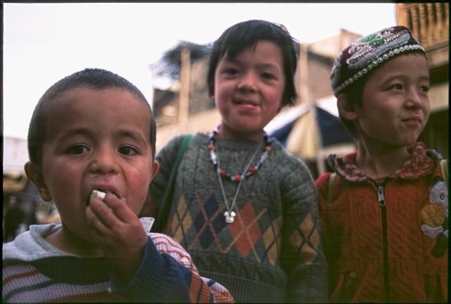 Uyghur Children, Kashgar, Xinjiang Autonomous Region, People's Republic of China