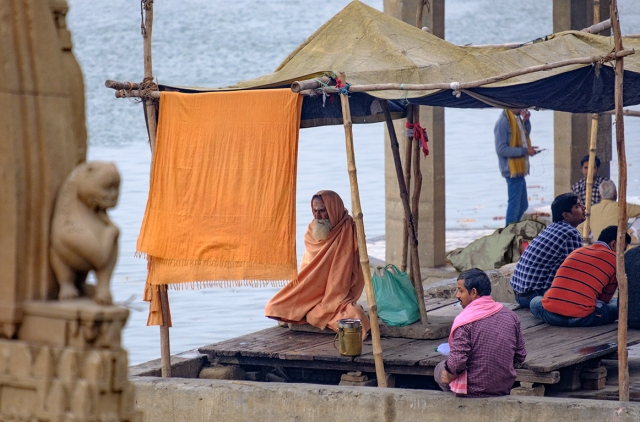 Bhagwan, The Ganga (Ganges River), Varanasi, Uttar Pradesh, India