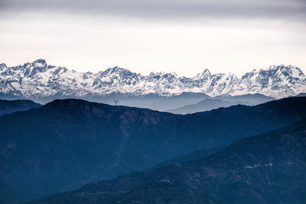 The Himalaya Range, Kunjapuri Devi Temple, Rishikesh, Uttarakhand, India
